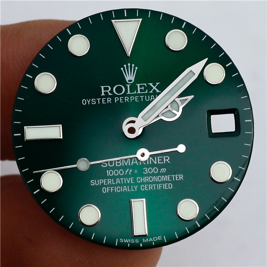 116610 lv submariner super luminous dial hands set for 2836 2824 movement