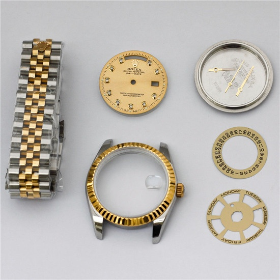 FIT ETA 2836 2834 Movement watch case kit for fix DAY DATE